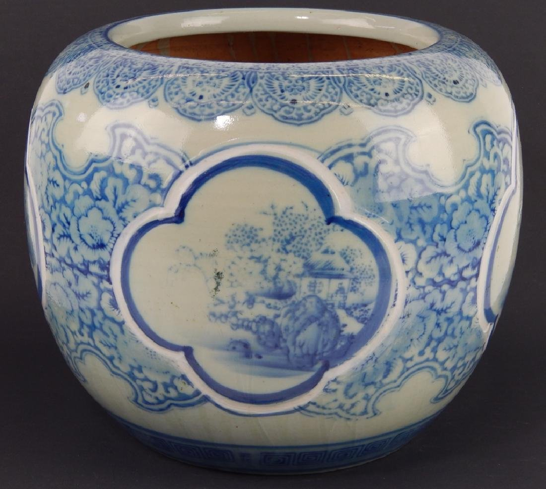 CHINESE BLUE AND WHITE PORCELAIN LANDSCAPE SCENE P
