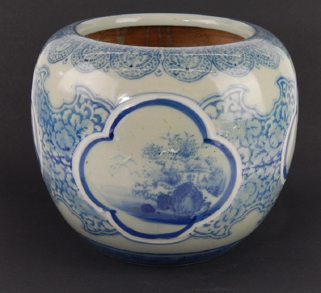 CHINESE BLUE AND WHITE PORCELAIN LANDSCAPE SCENE P - 4