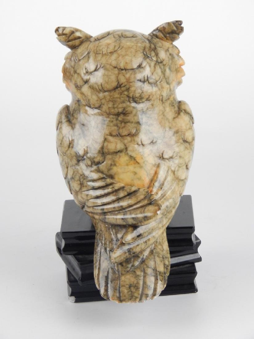 VINTAGE ITALIAN ALABASTER WISE OWL SCULPTURE - 2