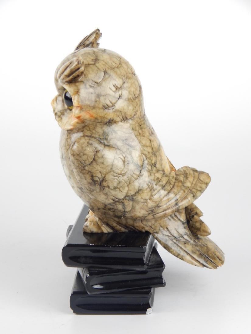 VINTAGE ITALIAN ALABASTER WISE OWL SCULPTURE - 6