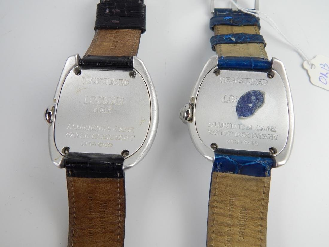2 LOCMAN ITALY LUNA DOME DIAL DATE WRISTWATCHES - 3