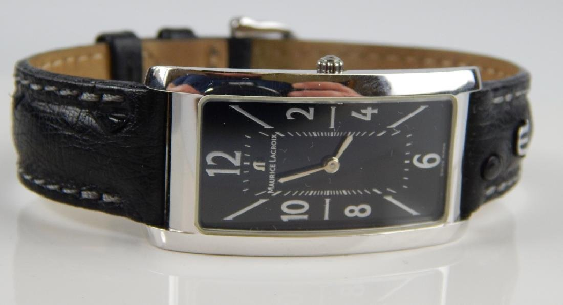 GENT'S MAURICE LACROIX FIABA BLACK DIAL WRISTWATCH