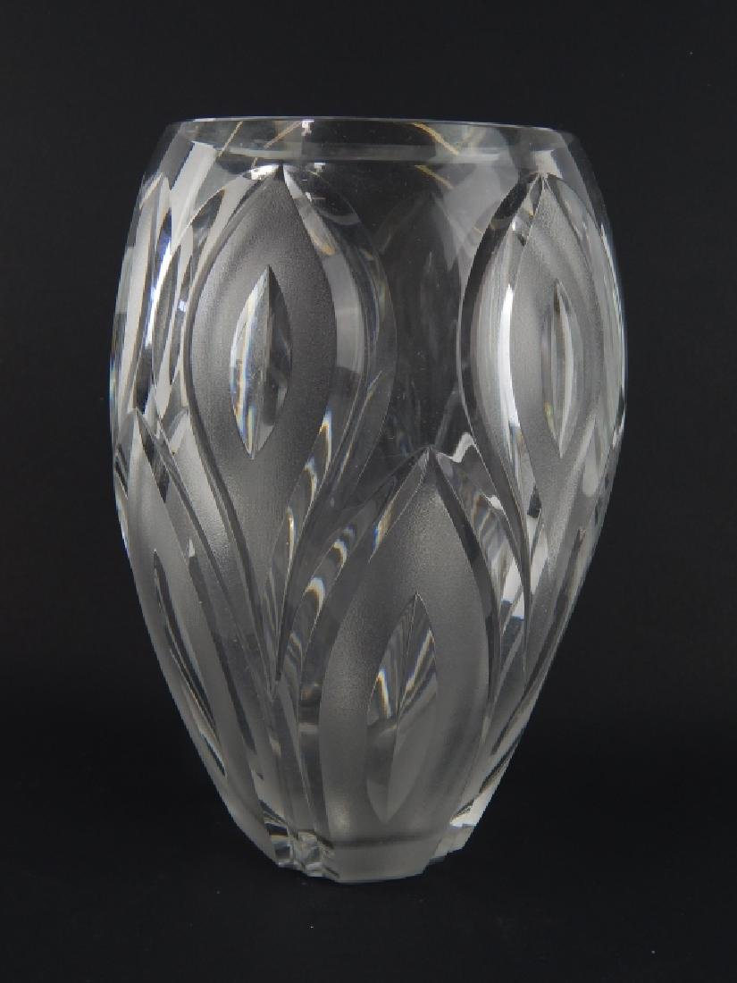3 PIECE VAL ST LAMBERT CLEAR FROSTED CRYSTAL ITEMS - 2