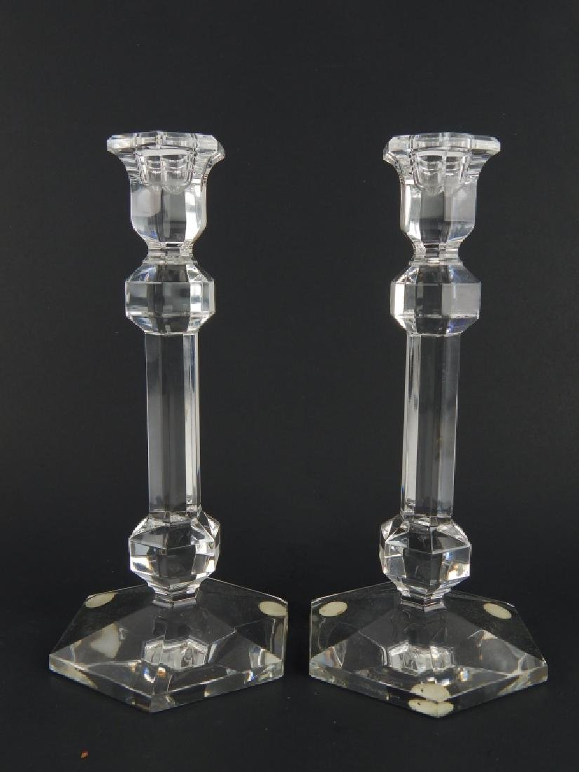 3 PIECE VAL ST LAMBERT CLEAR FROSTED CRYSTAL ITEMS - 5