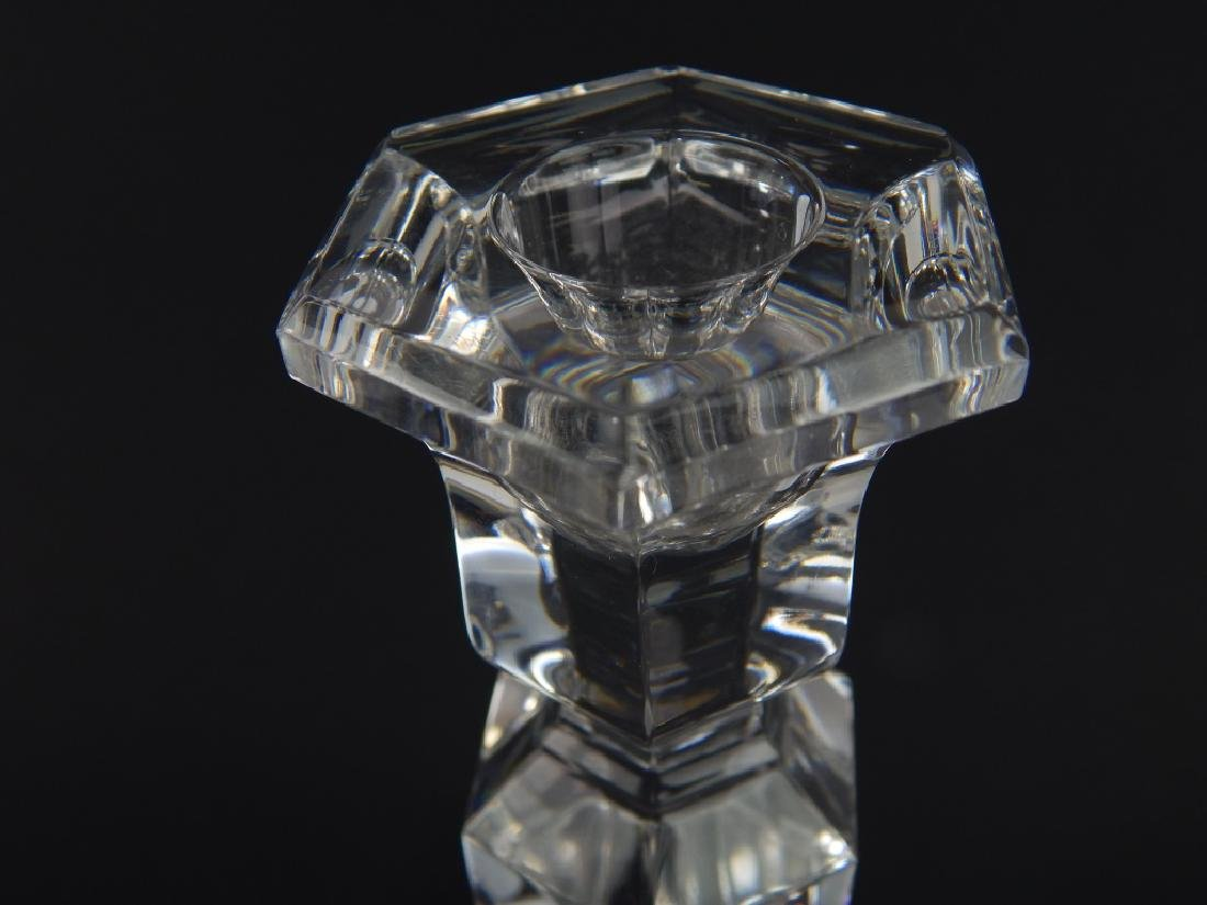 3 PIECE VAL ST LAMBERT CLEAR FROSTED CRYSTAL ITEMS - 6