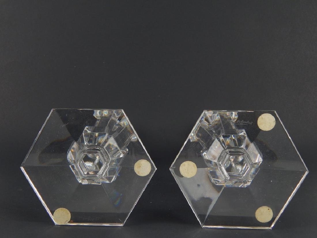 3 PIECE VAL ST LAMBERT CLEAR FROSTED CRYSTAL ITEMS - 7