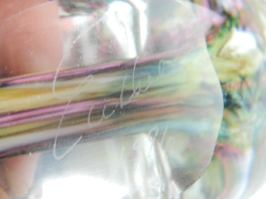 7 STUDIO ART GLASS PERFUME SCENT BOTTLES - 2
