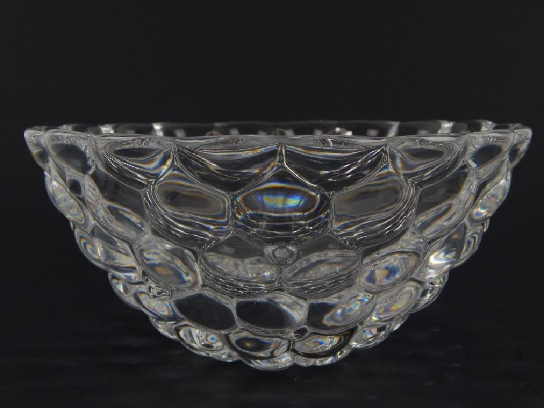 2 ORREFORS CLEAR CRYSTAL VASE AND BOWL - 2
