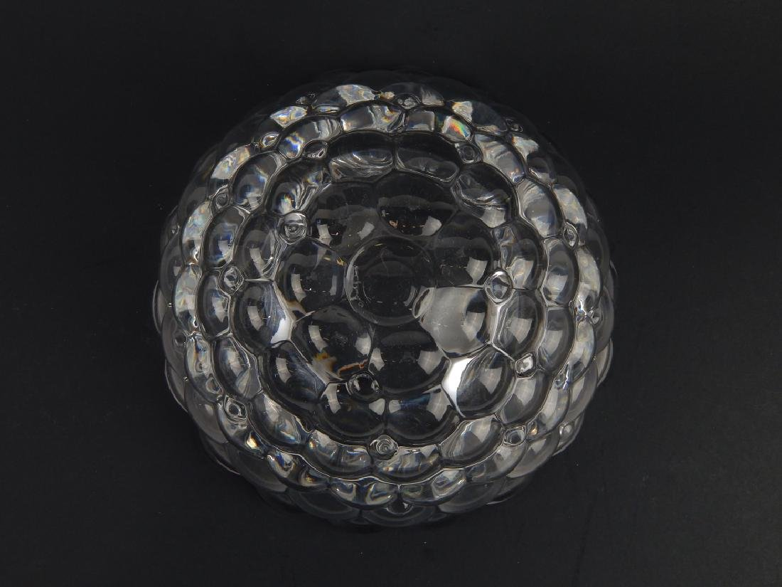 2 ORREFORS CLEAR CRYSTAL VASE AND BOWL - 4