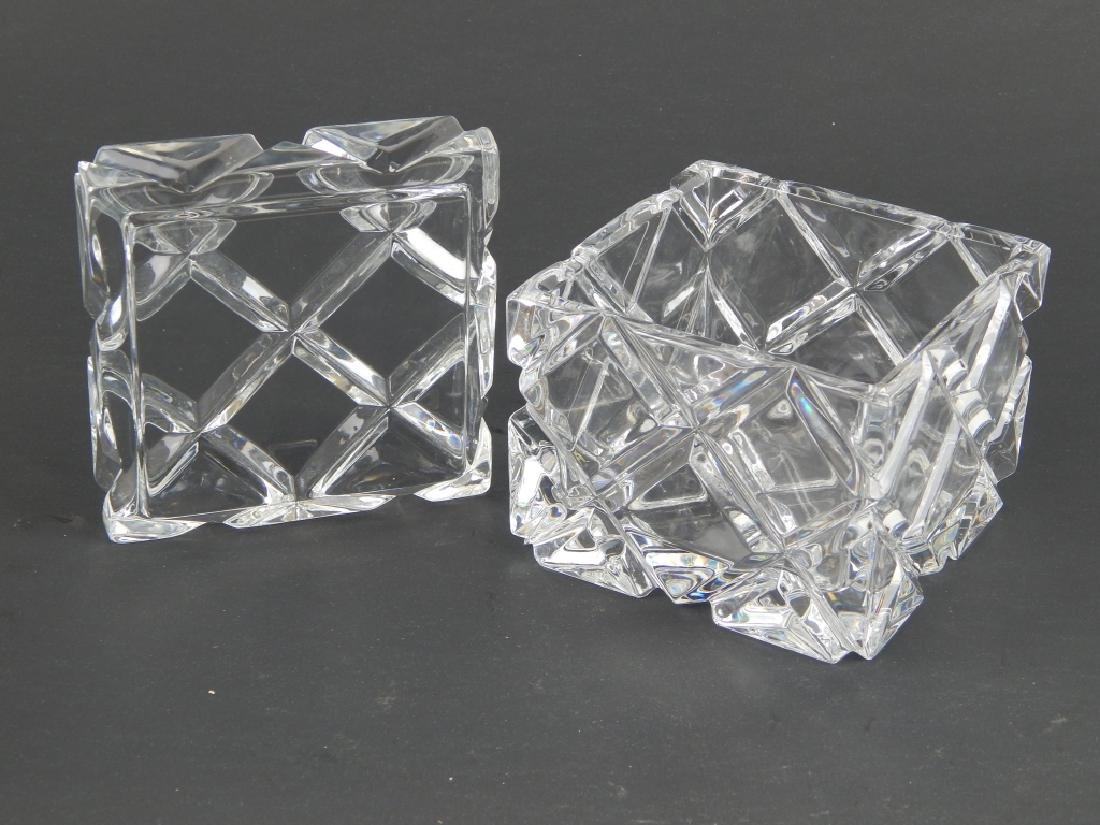 CUT CLEAR CRYSTAL SQUARE FORM COVERED BOX - 2