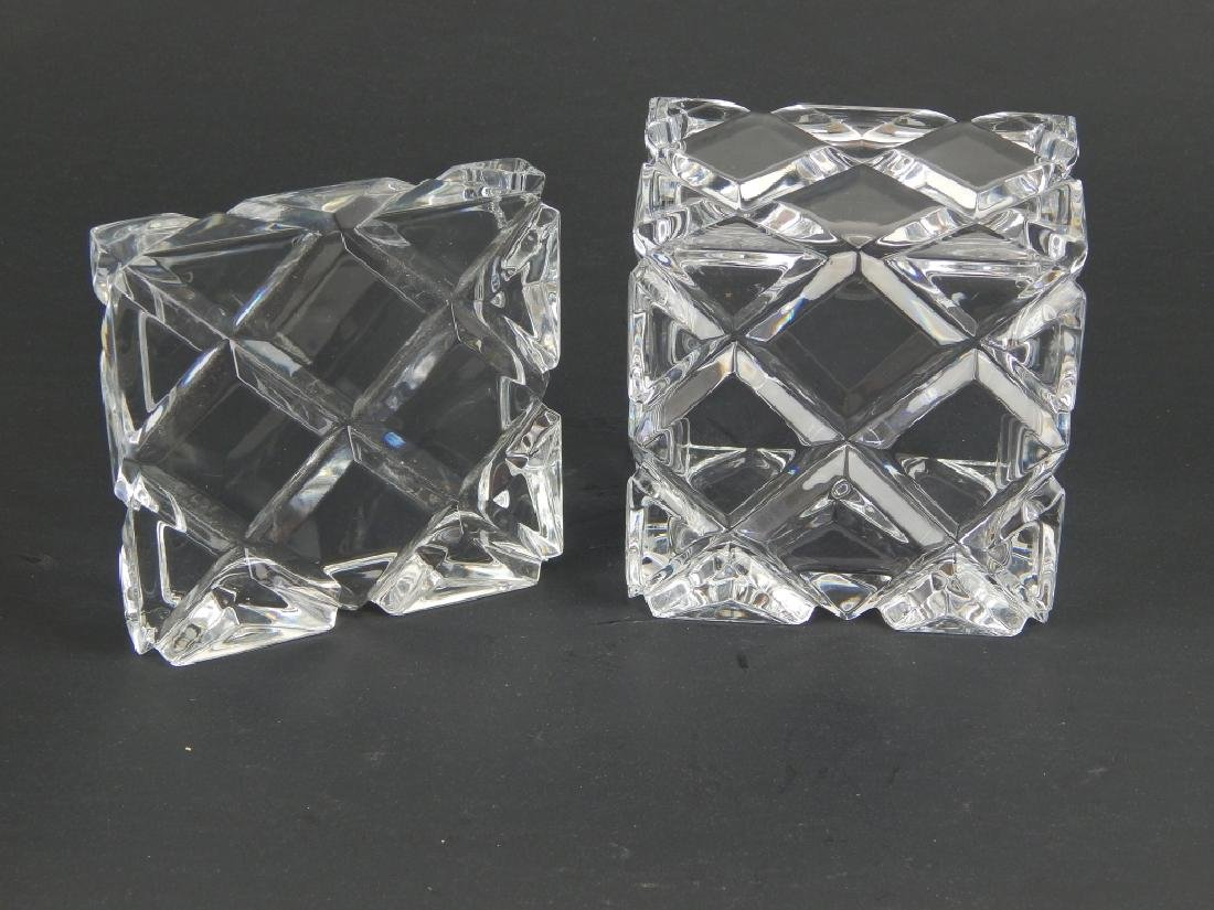 CUT CLEAR CRYSTAL SQUARE FORM COVERED BOX - 3