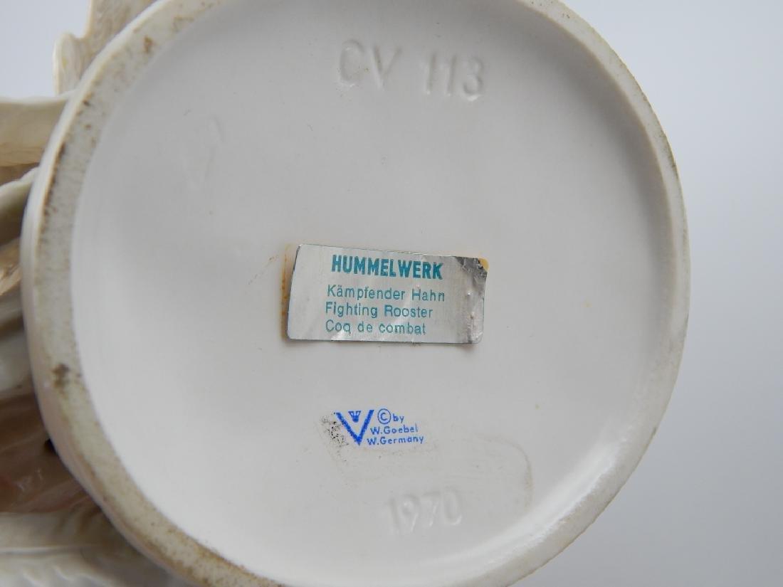 1970 GOEBEL GERMAN PORCELAIN ROOSTER FIGURE CV133 - 6