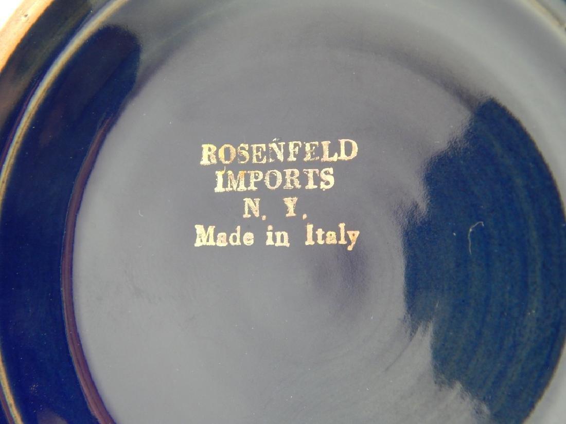 VINTAGE ROSENFELD IMPORTS COBALT ITALIAN CANISTER - 6