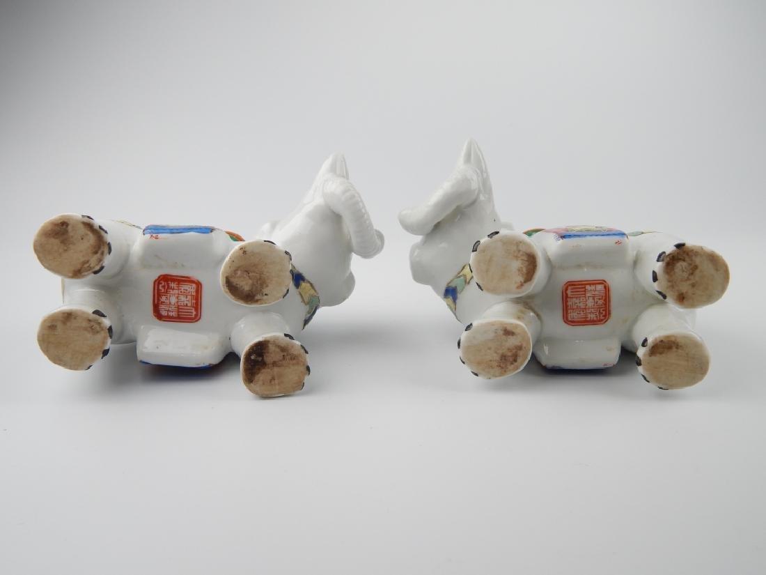 CHINESE JIAQING PORCELAIN ELEPHANT CANDLEHOLDERS - 7