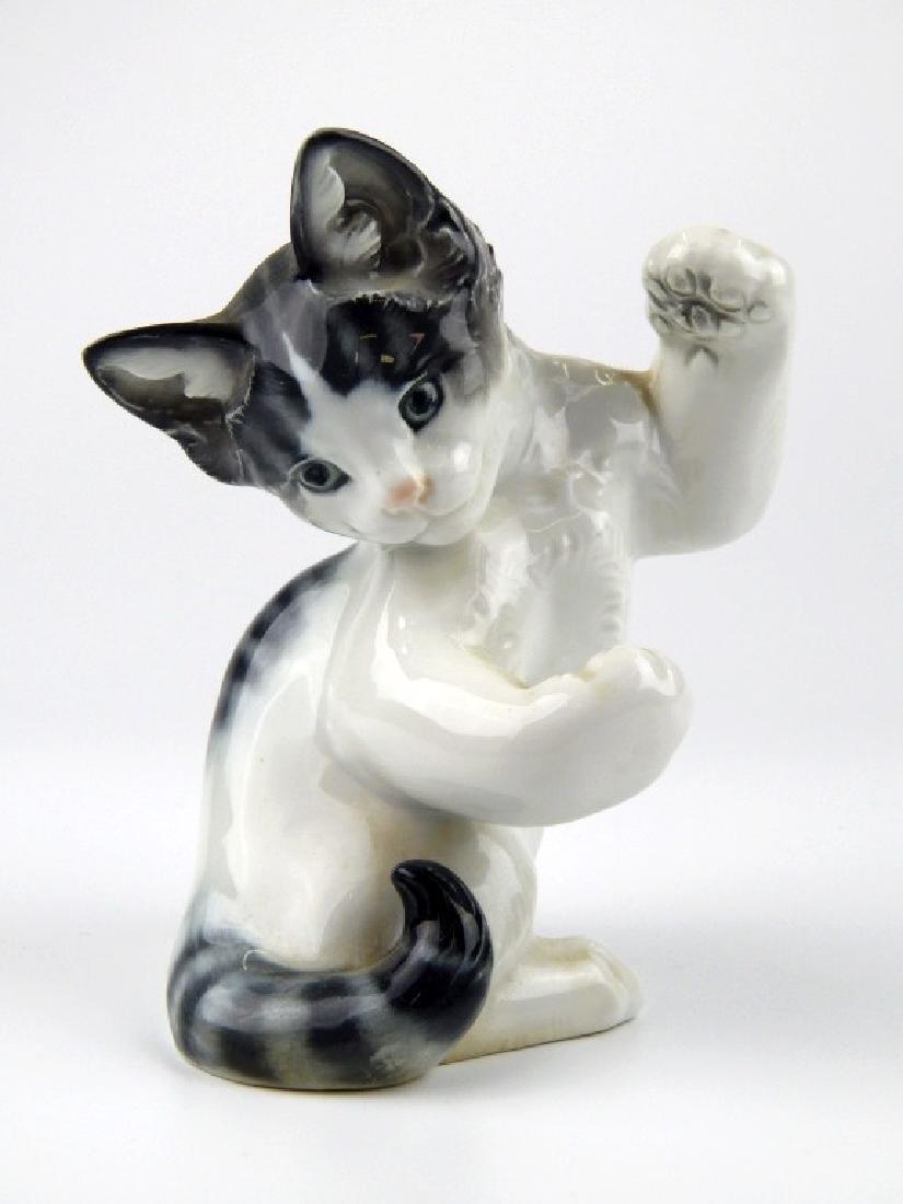 ROSENTHAL KARNER PORCELAIN KITTY CAT SCULPTURE