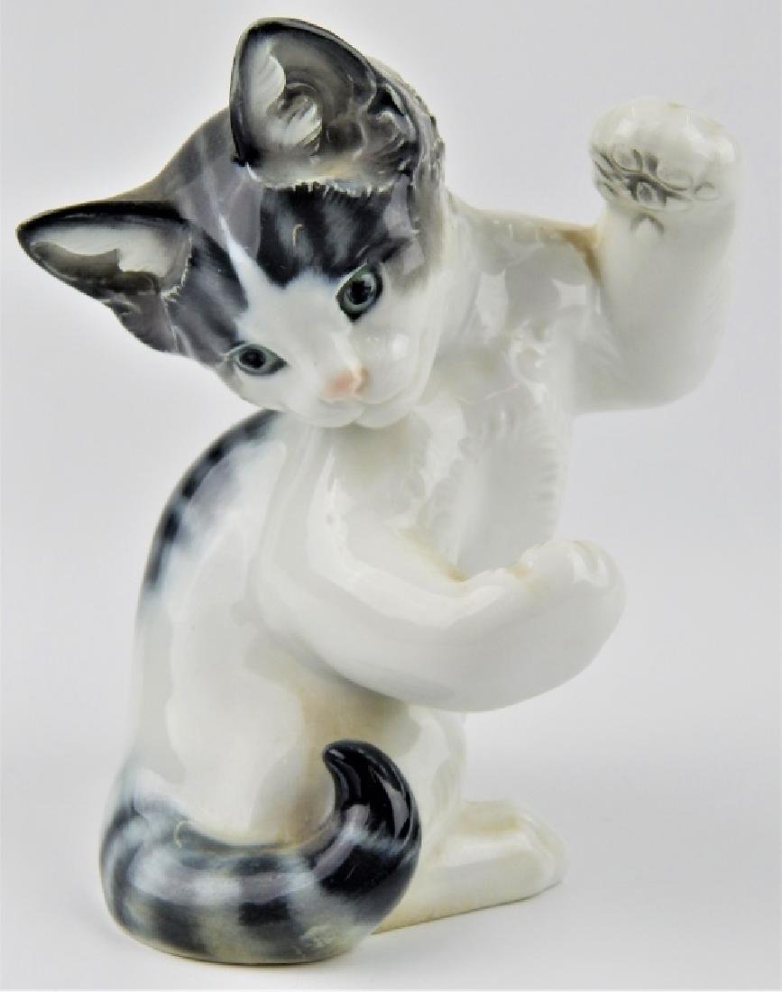 ROSENTHAL KARNER PORCELAIN KITTY CAT SCULPTURE - 2