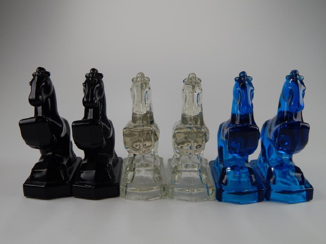 12 MULTI COLORED ART GLASS HORSE SCULPTURES - 2