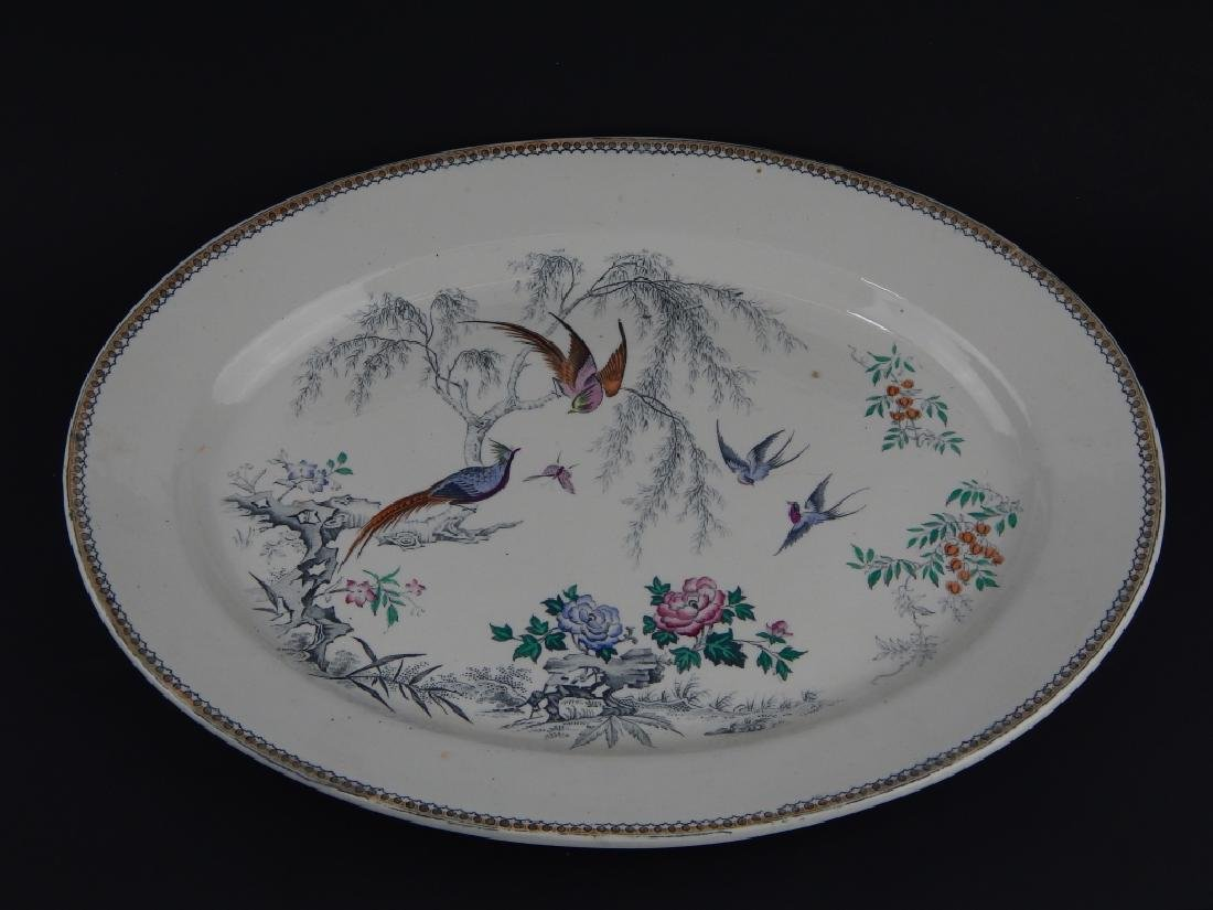 2 ENGLISH PORCELAIN TABLE WARE BIRD ITEMS - 2
