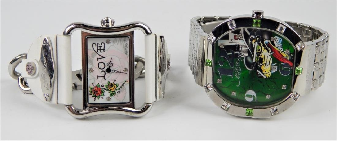 HIS & HERS ED HARDY WRISTWATCHES WITH BOXES