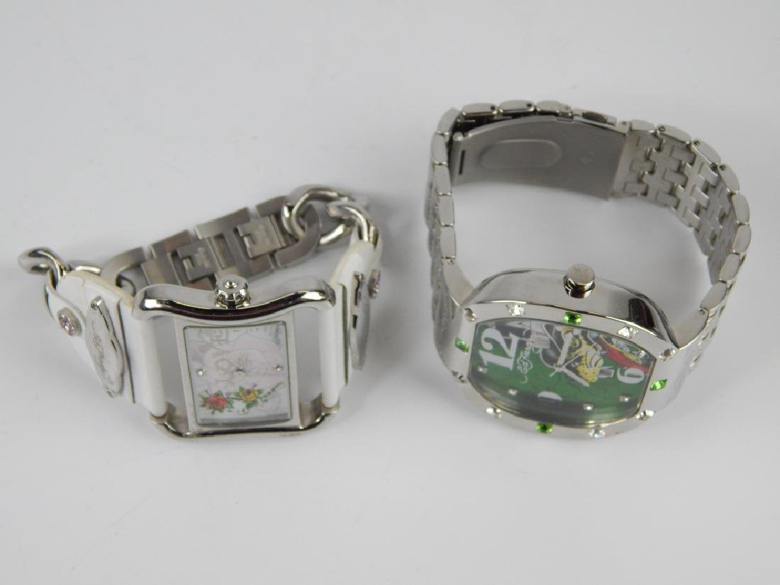 HIS & HERS ED HARDY WRISTWATCHES WITH BOXES - 2