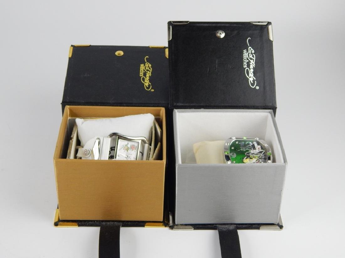 HIS & HERS ED HARDY WRISTWATCHES WITH BOXES - 5