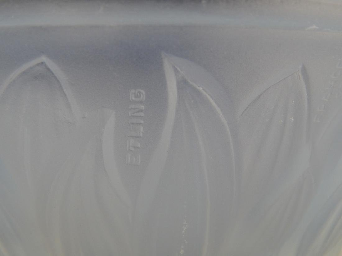 2 VINTAGE OPALESCENT GLASS BOWLS GALLON & ETLING - 4