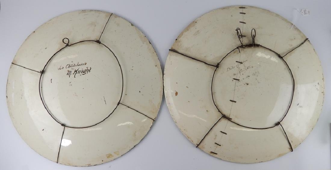 PAIR M KNIGHT (AMERICAN, 19th C) PORTRAIT CHARGERS - 5