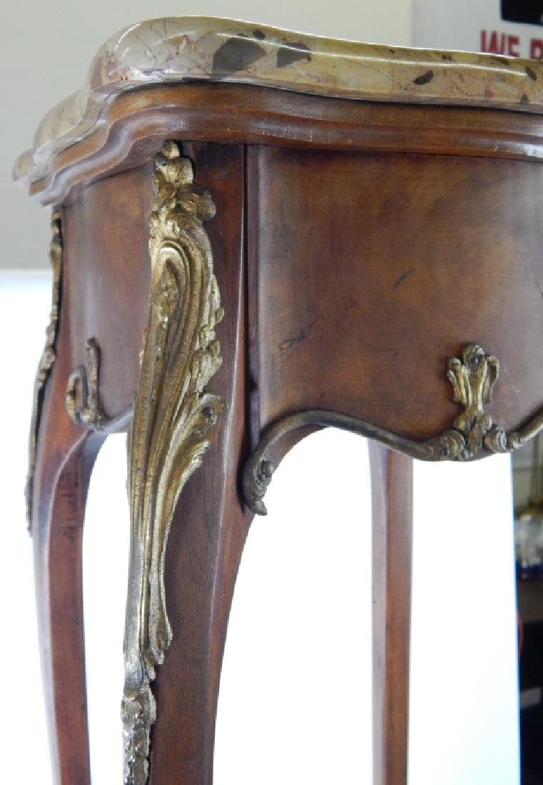FRENCH LOUIS XV ORMOLU WOODEN MARBLE PEDESTAL - 3