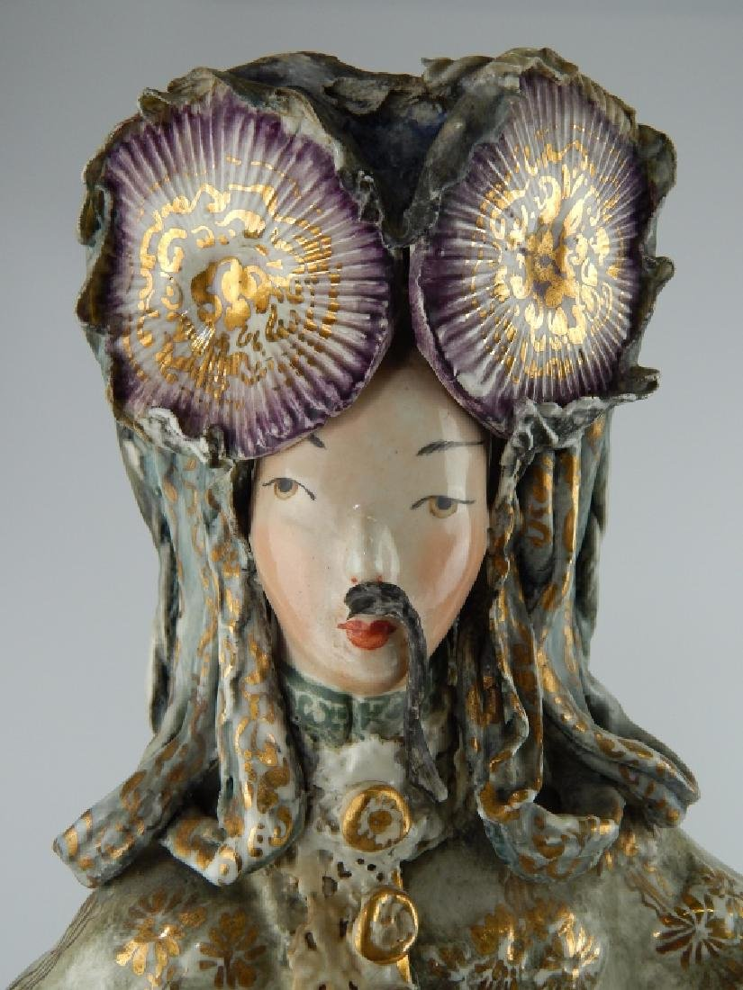 PAIR OF CORDEY CHINESE EMPEROR AND EMPRESS FIGURES - 2