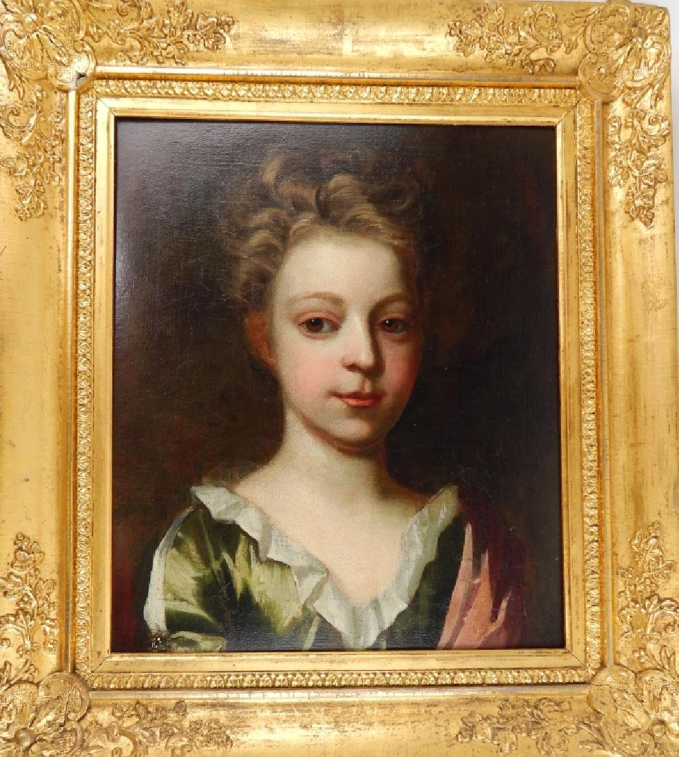 19th CENTURY PORTRAIT OIL PAINTING OF YOUNG BOY
