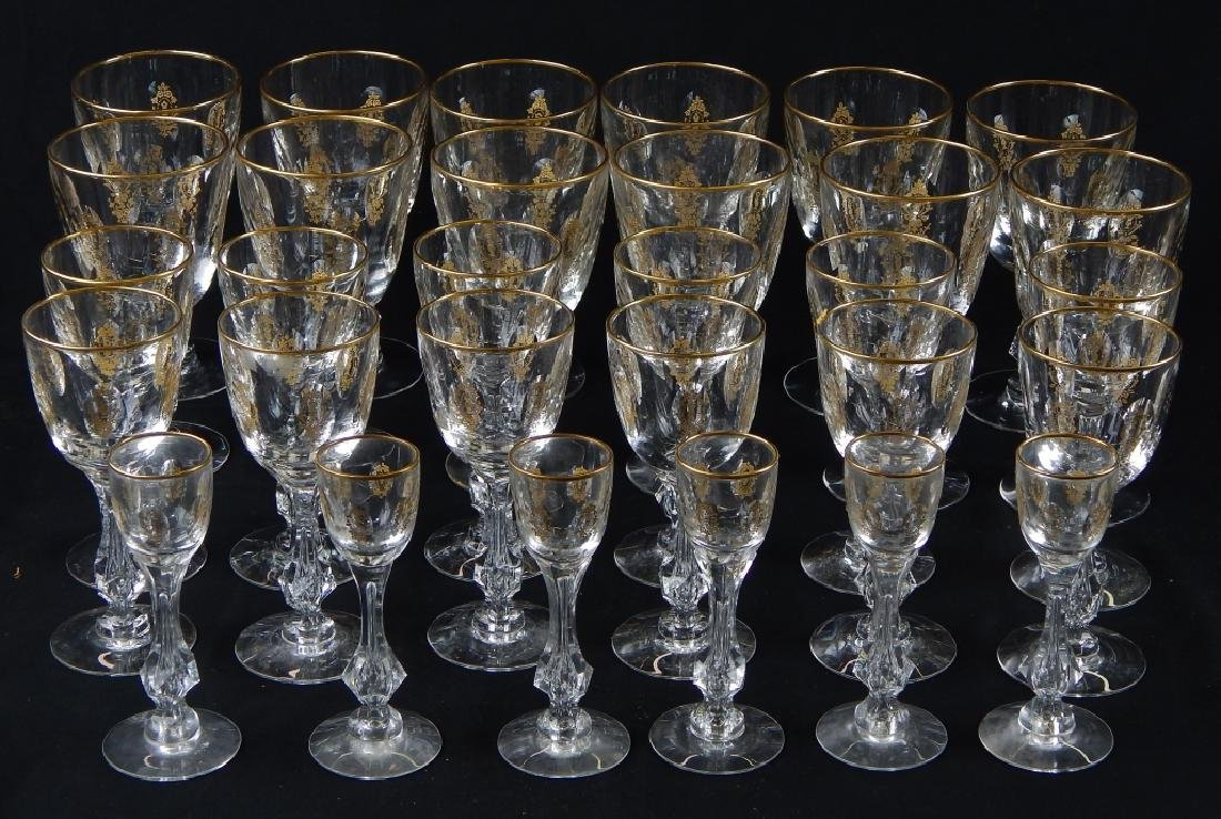 30pc TIFFIN PALAIS VERSAILLES CRYSTAL STEMWARE SET