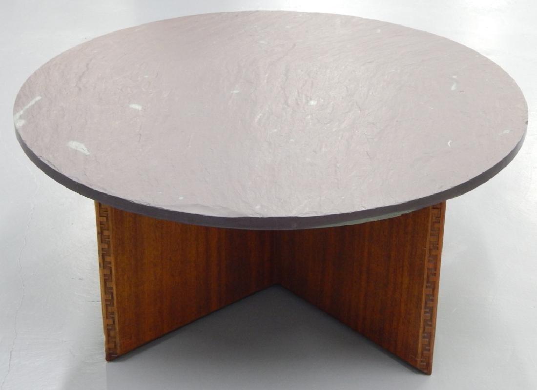 FRANK LLOYD WRIGHT HENREDON ROUND COFFEE TABLE