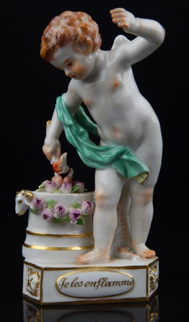 "ANTIQUE MEISSEN ""TELES ENFLAMME"" SCULPTURE"