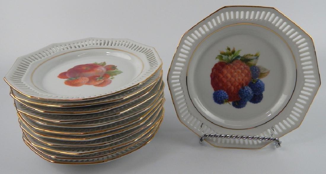 12 SCHWARZENHAMMER BAVARIA FRUIT DESSERT PLATES