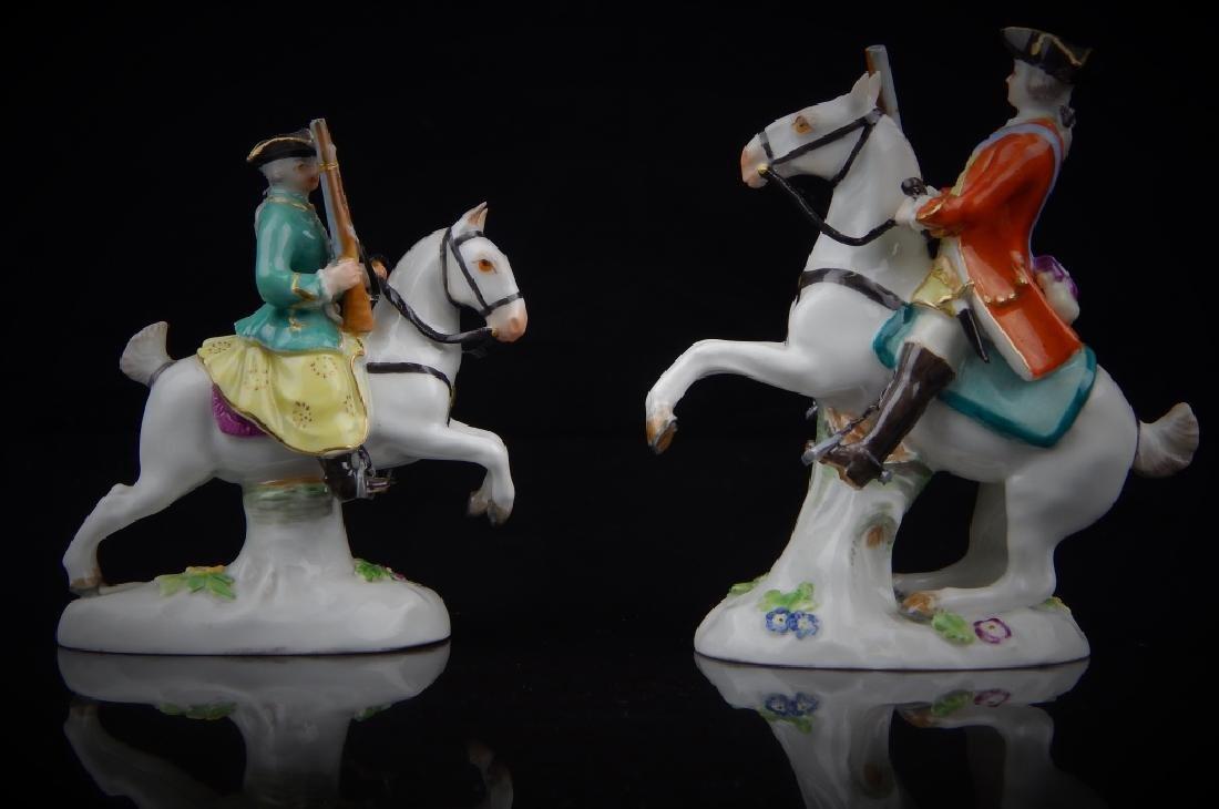 ANTIQUE MEISSEN MINIATURE SOLDIERS RIDING HORSES