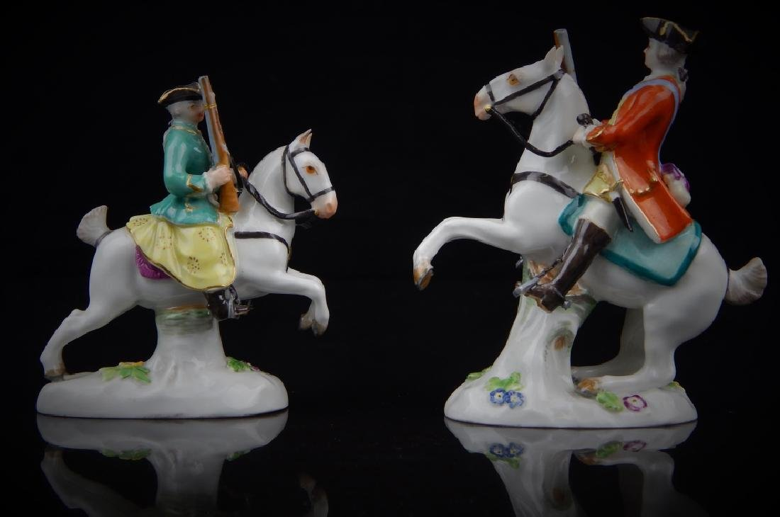 ANTIQUE MEISSEN MINIATURE SOLDIERS RIDING HORSES