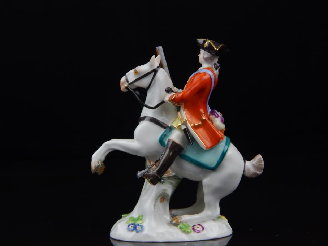 ANTIQUE MEISSEN MINIATURE SOLDIERS RIDING HORSES - 5
