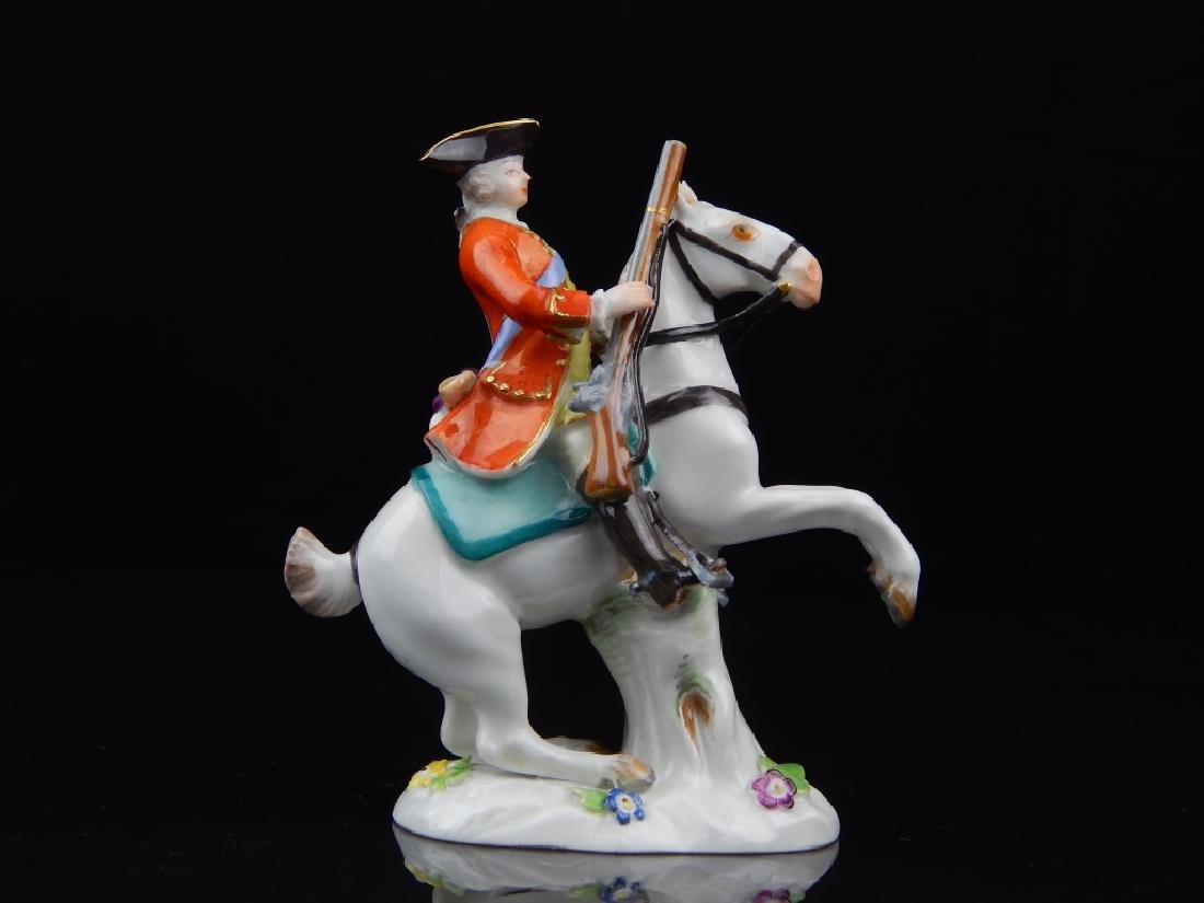 ANTIQUE MEISSEN MINIATURE SOLDIERS RIDING HORSES - 6