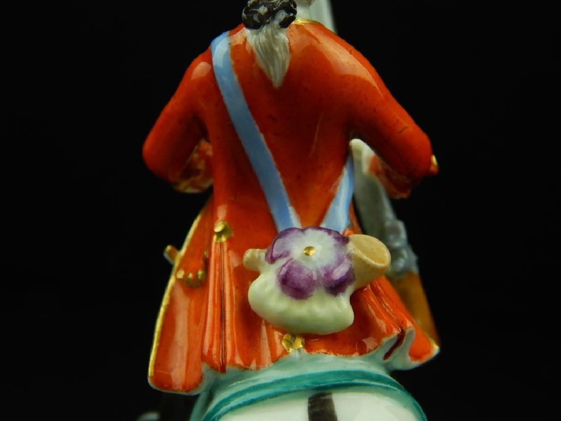 ANTIQUE MEISSEN MINIATURE SOLDIERS RIDING HORSES - 8