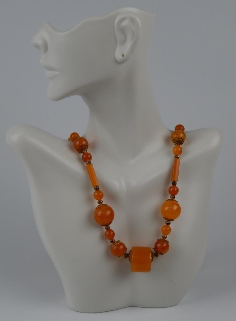 GENUINE BUTTERSCOTCH AMBER BEADED STRAND NECKLACE