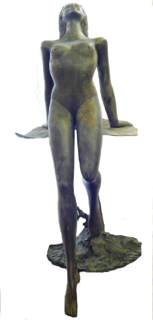 PRINCE MONYO NUDE WATER NYMPHBRONZE SCULPTURE