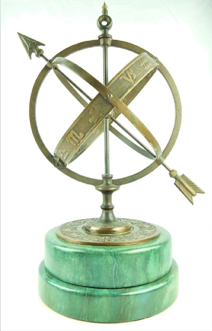 ASTROLOGICAL ARMILLARY BRONZE SPHERE