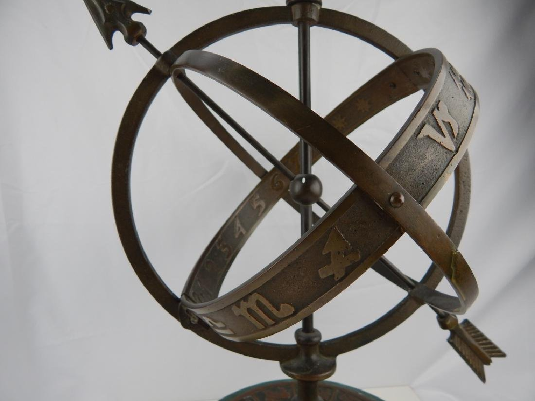 ASTROLOGICAL ARMILLARY BRONZE SPHERE - 4
