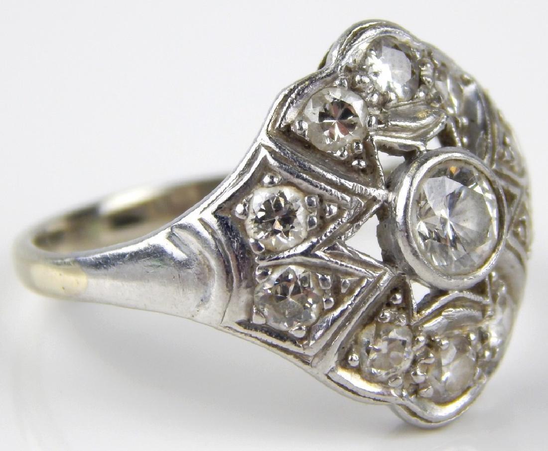 VICTORIAN PLATINUM DIAMOND ENGAGEMENT WEDDING RING