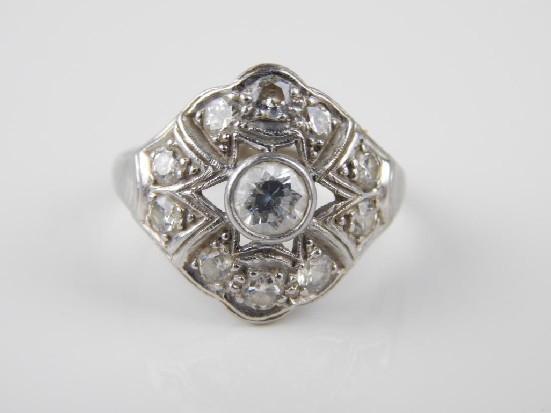 VICTORIAN PLATINUM DIAMOND ENGAGEMENT WEDDING RING - 2