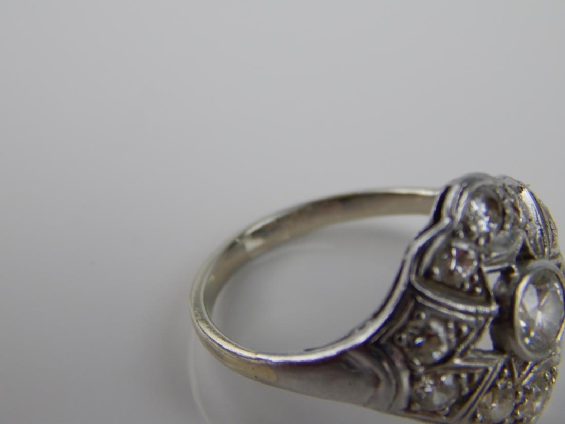 VICTORIAN PLATINUM DIAMOND ENGAGEMENT WEDDING RING - 4