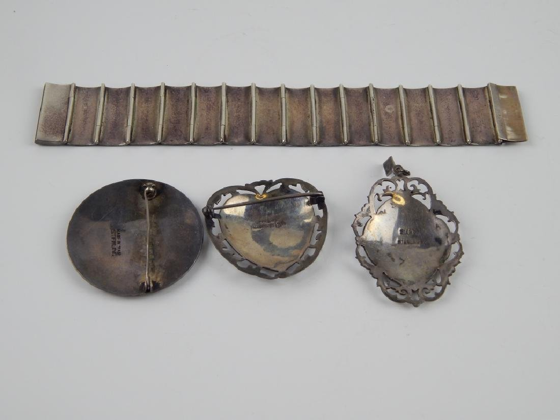 4pc VINTAGE SIAMESE STERLING SILVER JEWELRY SET - 2
