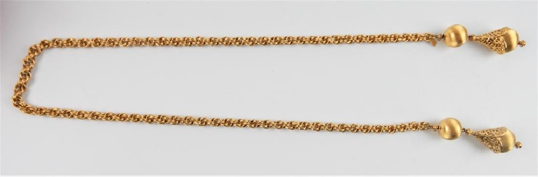 MONET GOLD TONE DRAPING NECKLACE