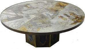 PHILIP & KELVIN LAVERNE ETCHED COFFEE TABLE
