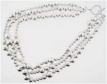 TIFFANY & CO STERLING BEADED TORSAD NECKLACE